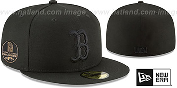 Red Sox '2018 WORLD SERIES' CHAMPIONS Black-Black Hat by New Era
