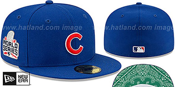 Cubs 'BANDANA KELLY BOTTOM' Royal Fitted Hat by New Era