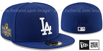 Dodgers '2020 WORLD SERIES' CHAMPIONS GAME Fitted Hat by New Era