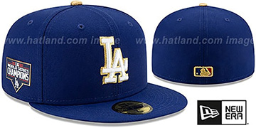 Dodgers '2020 WORLD SERIES' CHAMPIONS GOLD Fitted Hat by New Era