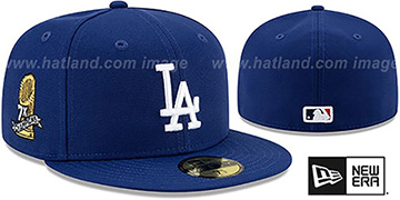 Dodgers '7X WORLD SERIES' CHAMPIONS Royal Fitted Hat by New Era