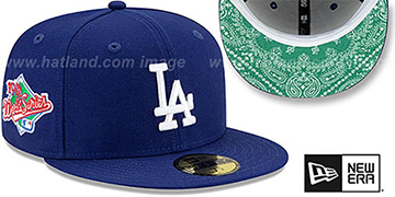 Dodgers 'BANDANA KELLY BOTTOM' Royal Fitted Hat by New Era