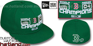 Red Sox 2004 St PATS 'WS CHAMPS' Green Fitted Hat by New Era
