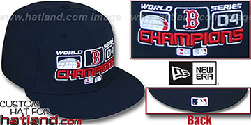 Red Sox 'WS CHAMPS SCOREBOARD' Navy Fitted Hat by New Era