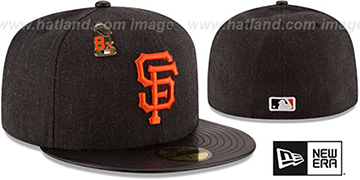 SF Giants 8X 'HEATHER-PIN' Black Fitted Hat by New Era