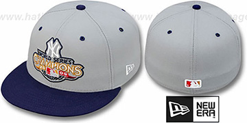 Yankees 2009 'CHAMPIONS CREST' Grey-Navy Hat by New Era