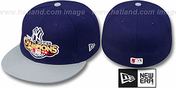 Yankees 2009 'CHAMPIONS CREST' Navy-Grey Hat by New Era