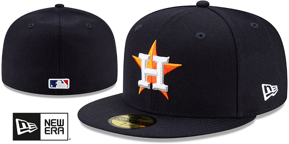 Astros 'BANDANA KELLY BOTTOM' Navy Fitted Hat by New Era