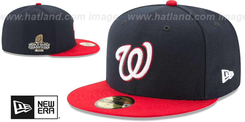 Nationals '2019 WORLD SERIES' ALTERNATE CHAMPIONS Fitted Hat by New Era